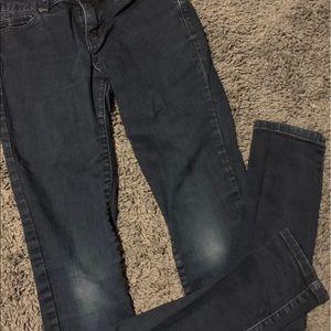 Abercrombie jeans,00, fringe waist, and skinny